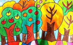 儿童画辣椒树