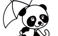 画画熊猫图片