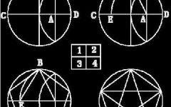 圆规画五角星