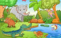 画森林的动物