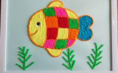 儿童手工画鱼