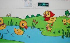 幼儿园过道画