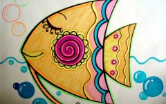 儿童画碗花纹