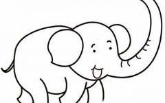 大象的素描画