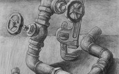 螺丝钉素描画