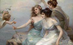 著名天使油画