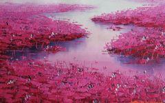 粉色著名油画