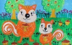 松鼠图画绘画