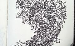 黑白画鹿线描
