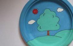 漂亮的盘子画