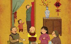 饺子手绘插画