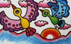小鸟简易图画