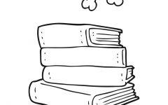 一堆书简笔画