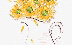 小雏菊铅笔画