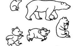 熊脚印简笔画
