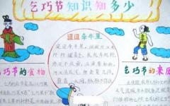 七夕节的手抄报