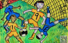 世界杯绘画