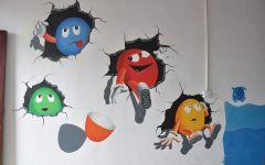 3d卡通墙绘图片