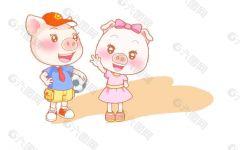 动漫可爱小猪长图