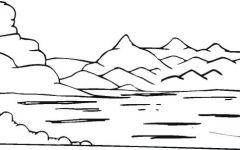 lake简笔画