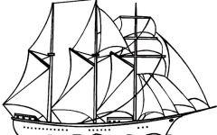 帆船铅笔画