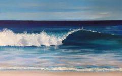粉笔画大海