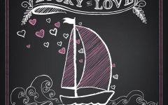 粉笔画帆船