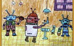 餐厅儿童画