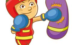 拳击儿童画