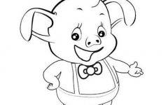 儿童简笔画猪