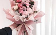 浪漫粉色系花束图