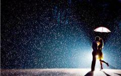 雨天爱情图片
