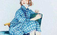 清新文艺的女生手绘图
