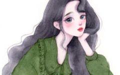 唯美简约的小清新手绘女生头像