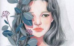 森系唯美彩铅绘画