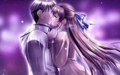 浪漫情侣图片动漫亲吻