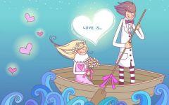 浪漫卡通情侣图片