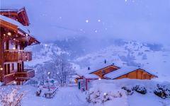 唯美浪漫雪景图