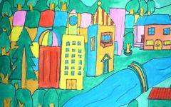 幼儿园图画 儿童房子图片
