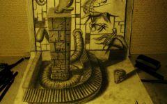 铅笔立体画 素描立体图片