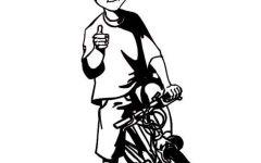 骑自行车的人简笔画