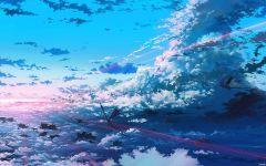 梦幻蓝色仙境唯美图片 唯美动漫蓝色仙境梦幻图片